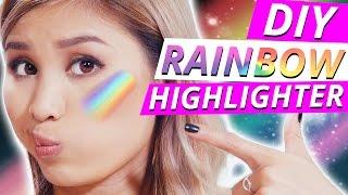 DIY RAINBOW HIGHLIGHTER - Funktioniert das WIRKLICH? l MakeUp Mythbusters w/ Kisu