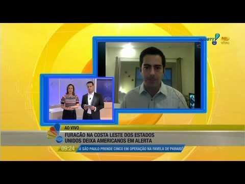 Se Liga Brasil: repórter da RedeTV! em NY está isolado por furacão