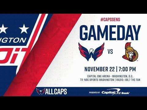 NHL 18 PS4. REGULAR SEASON 2017-2018: Ottawa SENATORS VS Washington CAPITALS. 11.22.2017. (NBCSN) !