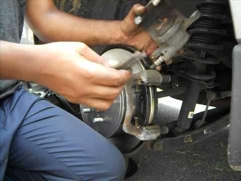 Subaru forester rear brake pad replacement