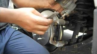 Replacing Rear brake-pads and Rotors on 2010 Subaru Forester, by Tamene