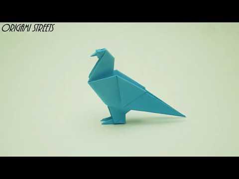 Cara Membuat Burung Merpati Dari Kertas - Origami Kertas Dove