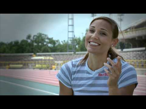 Olympic athlete Lolo Jones at the track