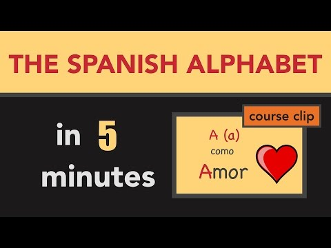 In 5 minutes learn the Spanish Alphabet and 25+ vocabulary words!