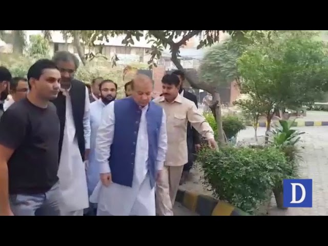 Nawaz Sharif leaves polling station without casting vote in by-elections