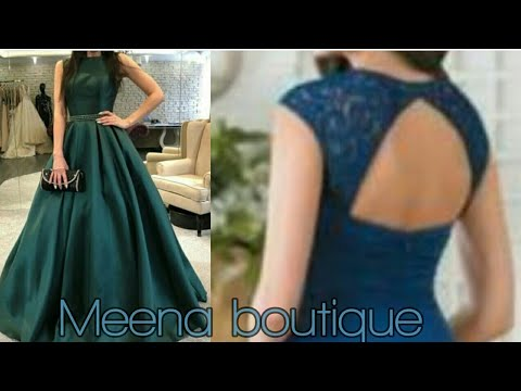 PARTY  WEAR LONG  GOWN CUTTING AND STITCHING