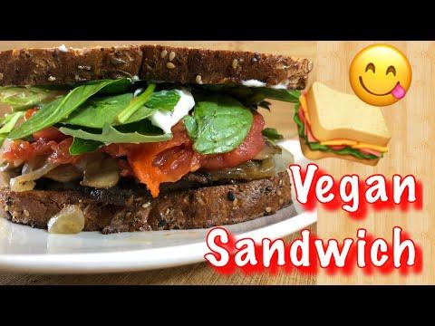 VEGAN Grilled Portobello Mushroom Sandwich (using Store-bought Ingredients!)