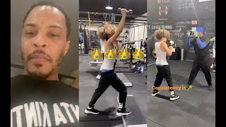 T.I. Trains His Son King Harris To Fight So He Wont Get Bullied In School Anymore