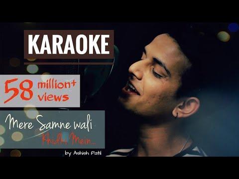 Mere Samne Wali Khidki Mein - Remake Karaoke With Lyrics || Ashish Patil || Old Bollywood Remake