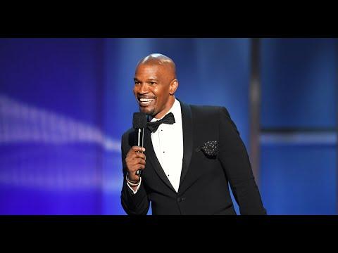 Jamie Foxx opens the AFI Life Achievement Award tribute to Denzel Washington