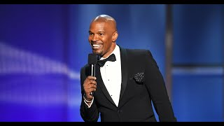 Jamie Foxx opens the AFI Life Achievement Award tribute to Denzel Washington