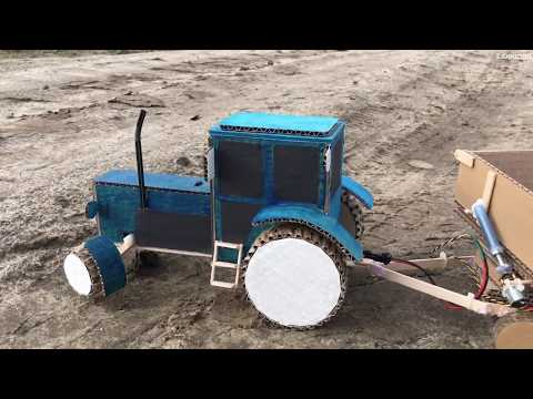 How To Make A Blue Tractor MTZ 82 With A Trailer
