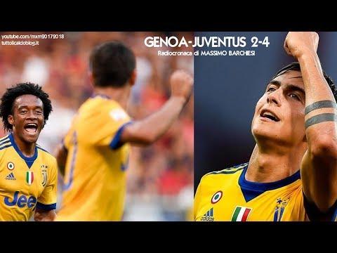 Genoa-Juventus 2-4 - Tutta la radiocronaca di Massimo Barchiesi (26/8/2017) da Rai Radio 1
