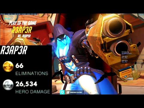Spirit Insane Reaper  66 elims! POTG! [ Overwatch season 26 Top 500 ]