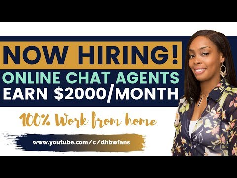 Now Hiring Online Chat Agents (Pays $2000/month) - Work From Home