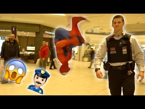 SPIDER-MAN BACKFLIPS IN PUBLIC REACTIONS! (Got kicked out!)