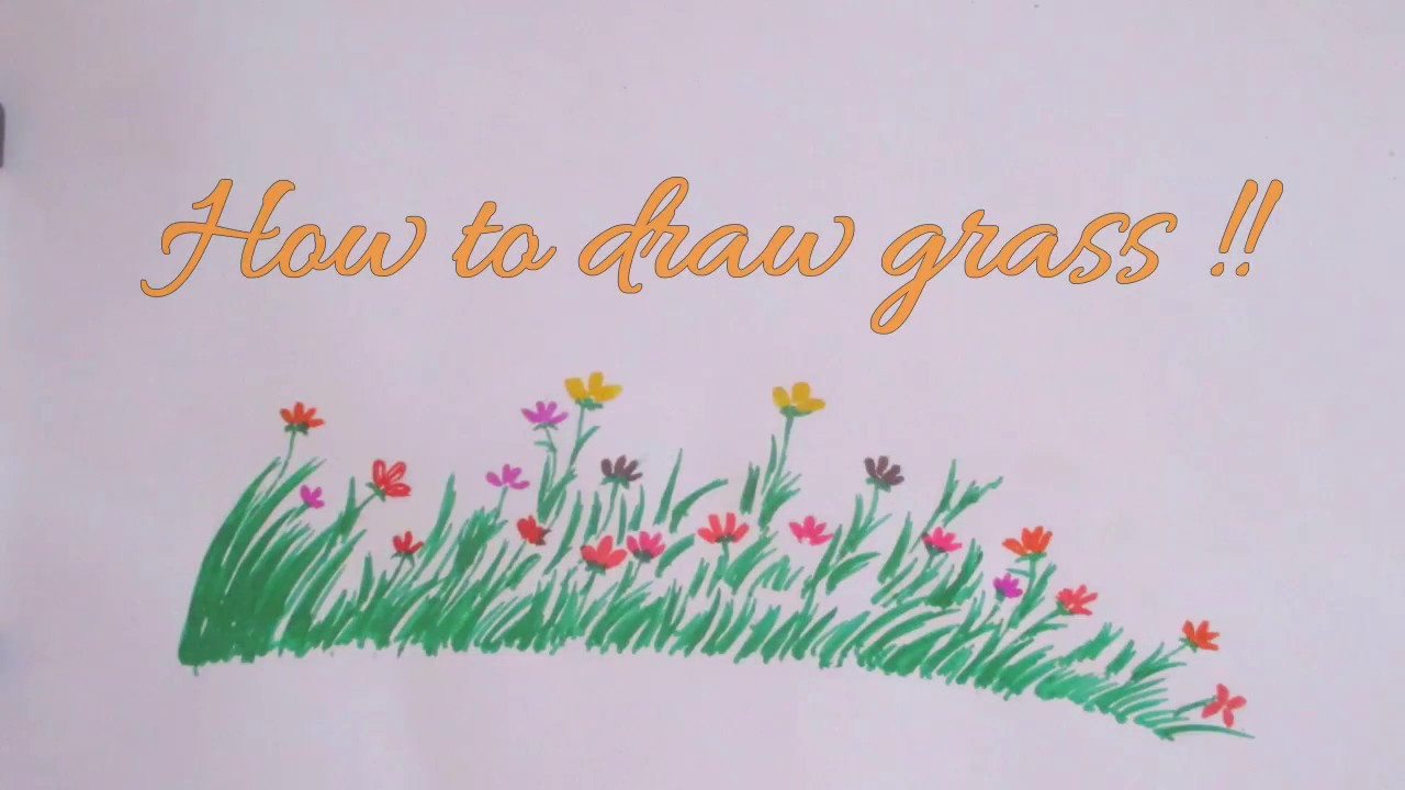 How to draw grass flower scenery drawing channel46 youtube how to draw grass flower scenery drawing channel46 ccuart Images