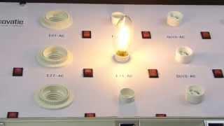 E14 LED Filament Kaarslamp 2W Warm Wit