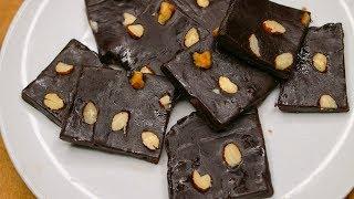 Easy Chocolate Fudge Recipe    How To Make Chocolate Fudge    3 Ingredients Chocolate Fudge Recipe
