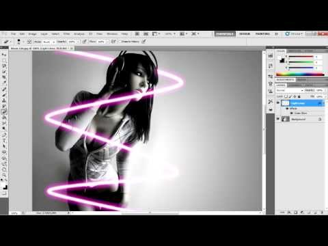 how to make video of lights blinking in photoshop