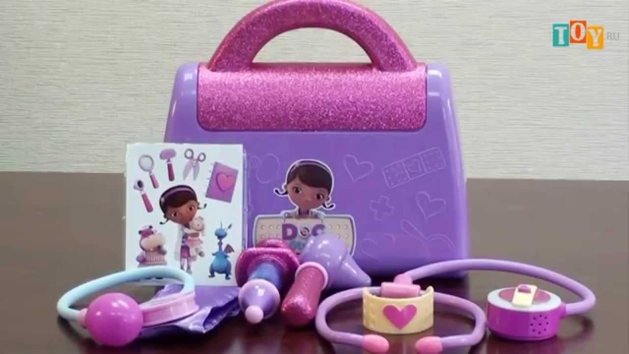 Доктор Плюшева игрушки набор доктора Doc McStuffins suitcase set .