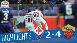 Fiorentina - Roma 2-4 - Highlights - Giornata 12 - Serie A TIM 2017/18 streaming
