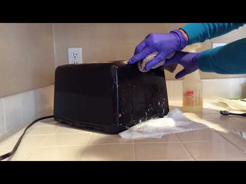 ASMR Cleaning Spraying Wiping Brushing Scrubbing Kitchen Toaster (no Tapping No Talking)