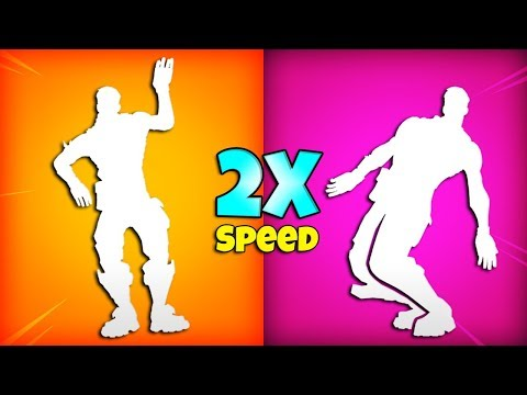 FORTNITE DANCE EMOTES 2X SPEED (New Leaked Emotes)