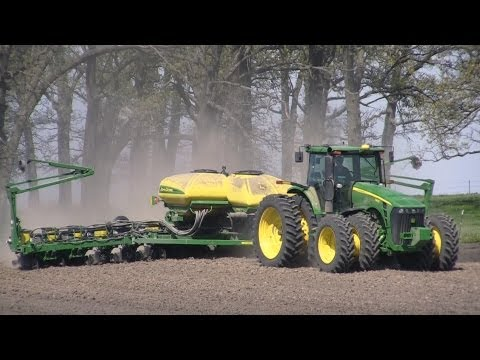 Deutschland Farms - John Deere 8430 Tractor and 177ONT Planter on 4-12-2012