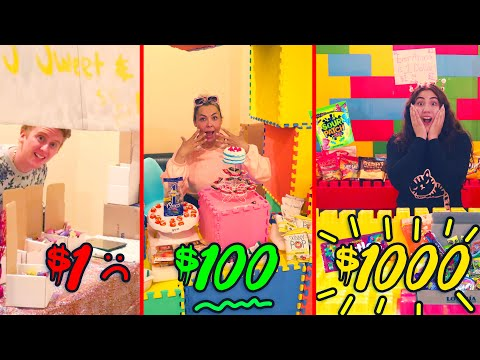 $1 VS $1000 CANDY STORE! Who can make the best candy store