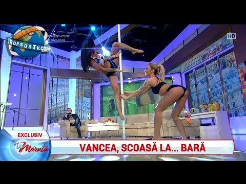 Pole dance moments | April 2017 | HD: Roxana Vancea's best four pole dance moments.  Music provided by Free Songs To Use Cramoki - Take U There Smokn Beats - Tattoo (feat. Sondrey)  Source: Pro TV Romania, La Maruta - Show  Channel donations: https://www.paypal.com/cgi-bin/webscr?cmd=_s-xclick&hosted_button_id=FXFFC9BMEY2MN