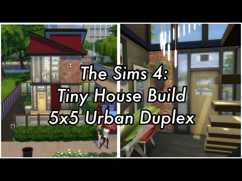 The Sims 4 - Tiny House Build - 5x5 Urban Duplex