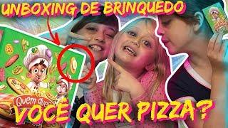 🍕A SUPER CHEFE PIZZAIOLA 👩🍳 | 🎁 Unboxing de Brinquedo: Jogo Quem Quer Pizza? Toyster