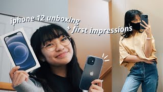 iphone 12 unboxing + first impressions !!!