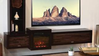 Woodwaves Floating TV Stand Fireplace Console
