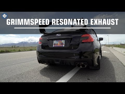 GrimmSpeed Resonated Cat Back - Subaru WRX 2015+ Exhaust Sound Clip