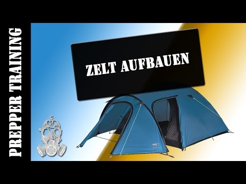 Prepper - Zelt aufbauen| Training | German HD 1080p