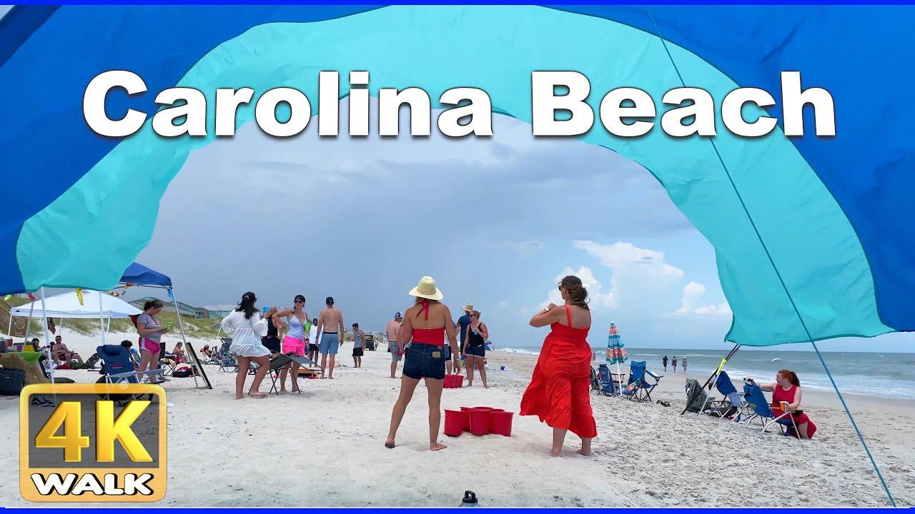 【4K】WALK North CAROLINA BEACH USA 4k video Travel Vlog HDR