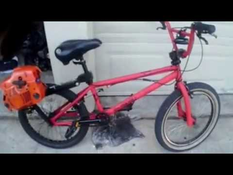 Friction bike chainsaw motor youtube greentooth Images