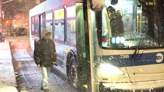 Flushing NYC PM Winter Storm Travel Nightmare - 3/3/2019