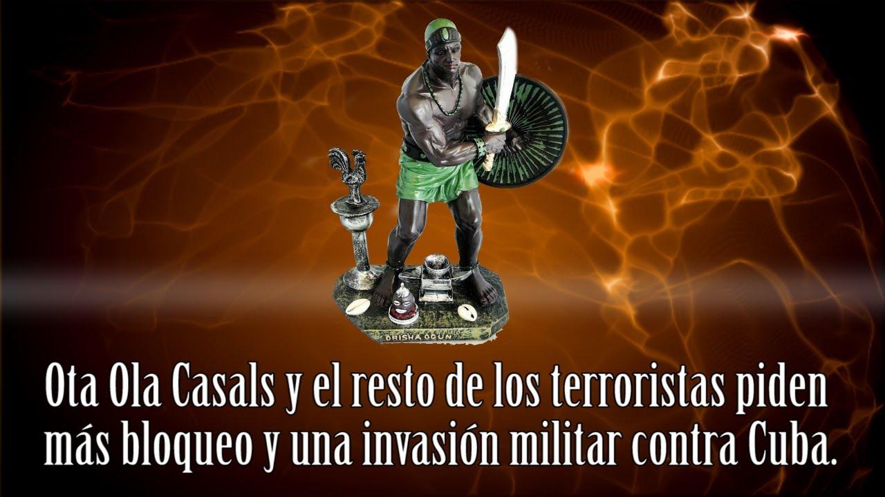 Ota Ola Casals y el resto de los terroristas piden más bloqueo y una invasión militar contra Cuba.