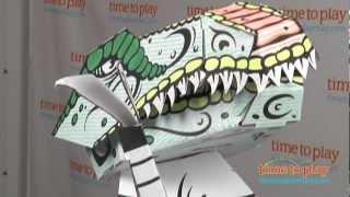 3D Erstellen n Farbe Durchbruch Furchterregenden T-Rex von RoseArt