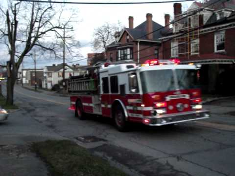 Uniontown, PA City Fire Department 40 Engine 3(East End Express)  Responding to a Structure Fire
