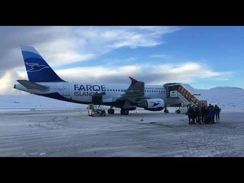 Landing in the Faroe Islands - January 2018
