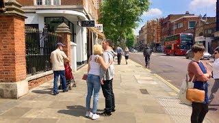 LONDON WALK   Kensington High Street   England