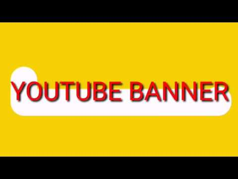 how to make a youtube banner (youtube channel art tutorial ) thumbnail