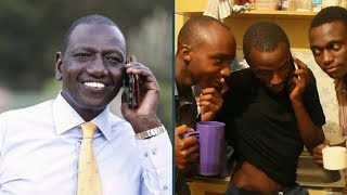 "Propesa ""calls"" DP William Ruto on air, asks if they can add him on a WhatsApp group"