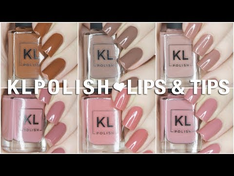 NEW Lips & Tips Limited Edition KL Polish Collection | Swatch + Review