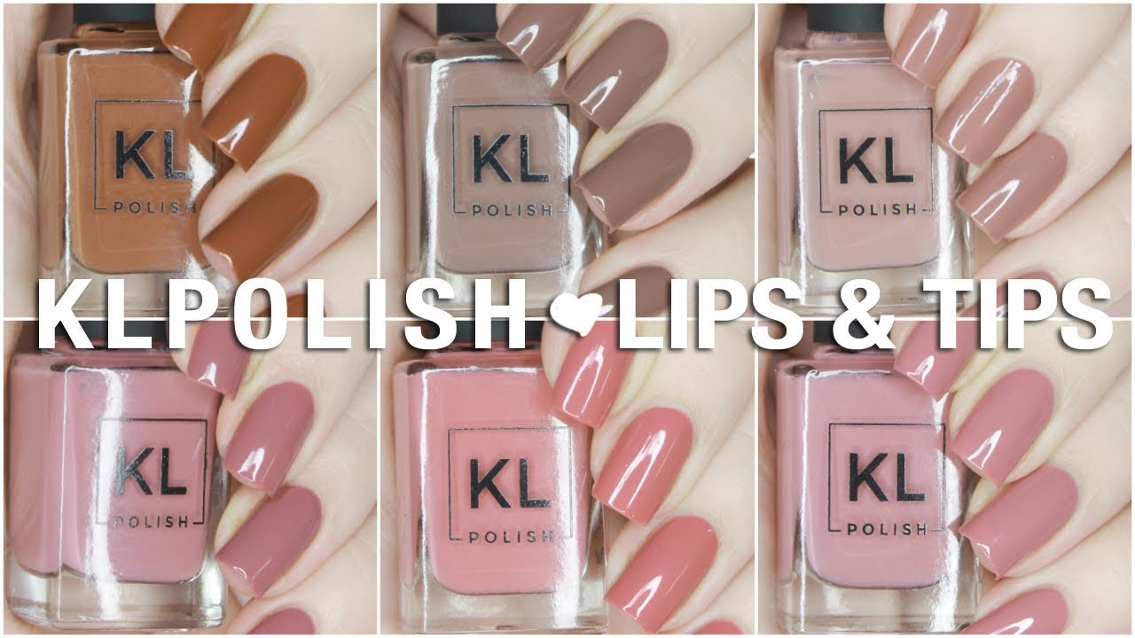 NEW Lips + Tips Limited Edition KL Polish Collection | Swatch + ...