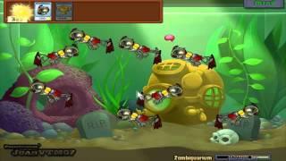 Plantas VS Zombies - Mini Juegos - Zombiquarium